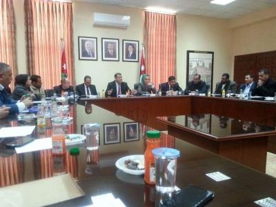 محافظ مادبا يترأس الاجتماع الاول للمجلس التنفيذي