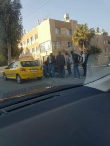 شاهد بالصور … حادث دهس على اشارات الرابية بالعاصمة عمان