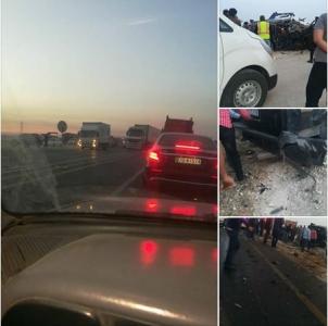 شاهد بالفيديو و الصور .. سيارة النائب  محمد العمامرة.. تتعرض لحادث  سير مروع على الطريق الصحراوي في الكرك