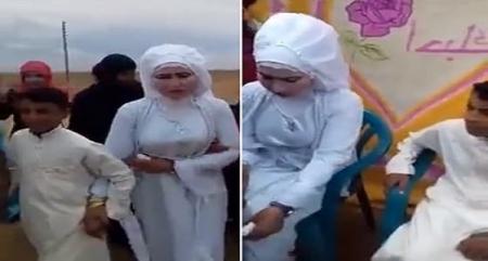 بالفيديو…كشف تفاصيل زواج طفل في الثانية عشرة من عمره بـ عروساً تكبره بـ 17 عاماً