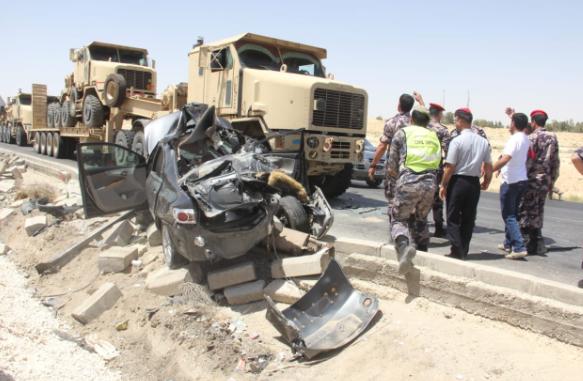 شاهد اسماء المتوفين والمصابين بحادث السير المروع على الصحراوي