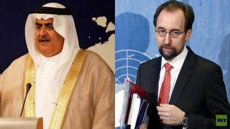 وزير الخارجية البحريني يهاجم الأمير زيد بن رعد