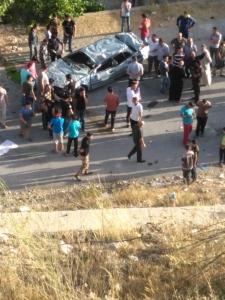 شاهد بالفيديو .. اصابتان بحادث تدهور على شارع الستين في السلط
