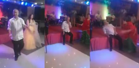 بالفيديو .. لحظة وفاة مفاجئة لرجل أثناء رقصه إلى جانب عروس بحفل زفاف!