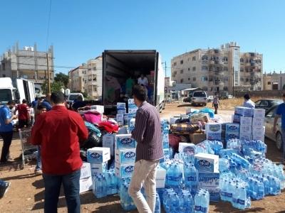 """لهذه الاسباب…. """"الهيئة الخيرية"""" تسحب 5 شاحنات من الداخل السوري؟!"""