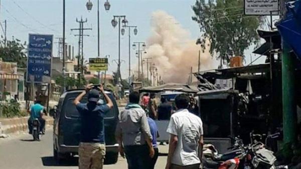 سماع دوي انفجار أثناء مرور موكب عسكري قرب معبر نصيب عند الحدود السورية الأردنية