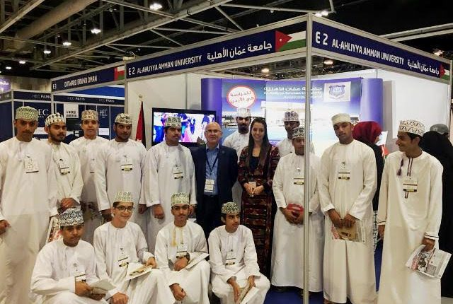 """مشاركة متميزة لجامعة عمان الاهلية بمعرض """"عٌمان"""" للتعليم العالي للتدريب وتطوير الموارد البشرية"""