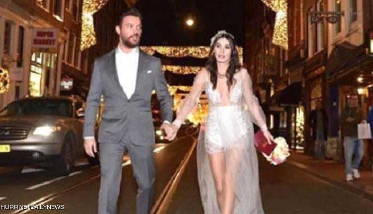 """اللباس الفاضح"""".. ممثلة تركية تثير ضجة بفستان الزفاف"""