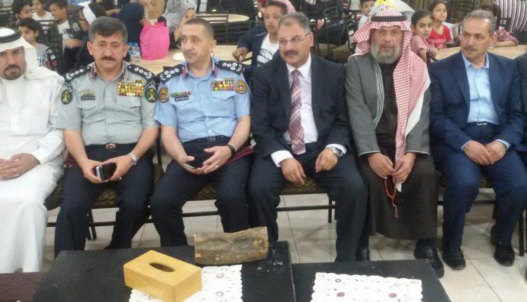 مدير شرطة البلقاء يرعى إفطار الأيتام في جابر العثرات