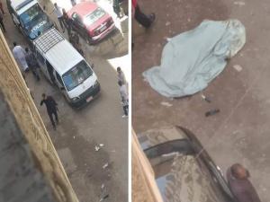 شاب يقتل والدته طعنًا وسط الشارع في نهار رمضان .. صورة