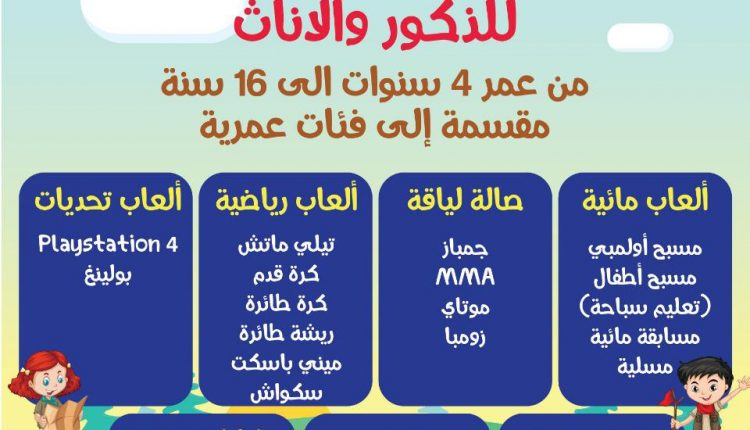 نادي الارينا الصيفي بجامعة عمان الاهلية اعتبارا من 16 حزيران الجار