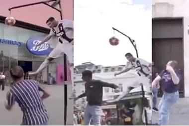 شاهد بالفيديو .. قفزة رونالدو تشعل شوارع لندن