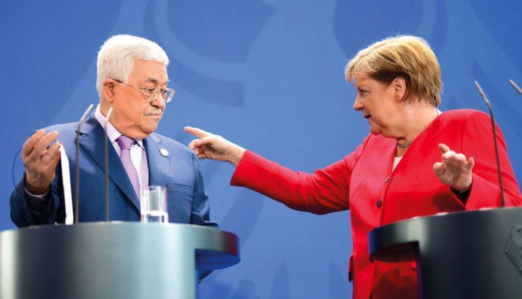 ميركل لعباس: لا طريق للسلام إلا عبر حل الدولتين