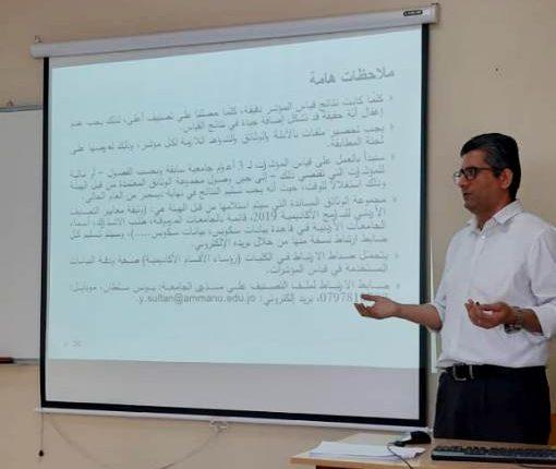 كلية التمريض في جامعة عمان الأهلية تنظم ورشة حول تصنيف البرامج الأكاديمية