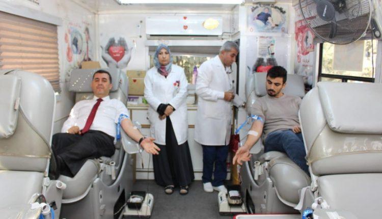 حملة تبرع بالدم في جامعة الأميرة سمية للتكنولوجيا