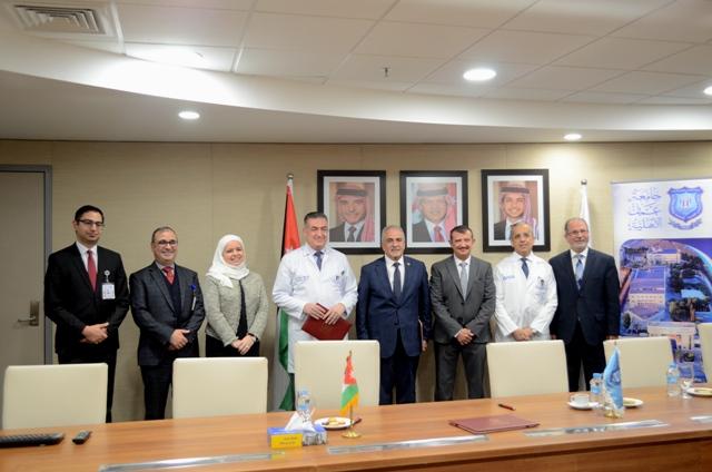 اتفاقية تعاون مشترك بين عمان الأهلية ومركز الحسين للسرطان