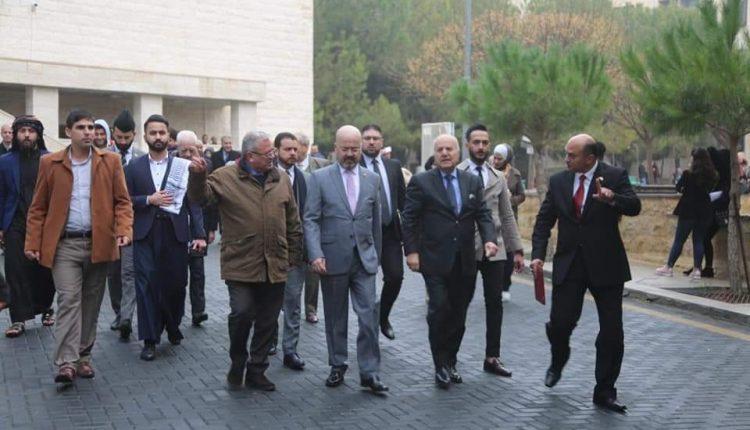 السفير العراقي يزور جامعة البترا ويلتقي برئاسة الجامعة والطلبة العراقيين