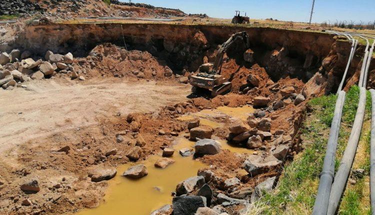 المياه:استخراج البازلت بطريقة مخالفة في الهاشمية يهدد مشاريع زراعة الاعلاف