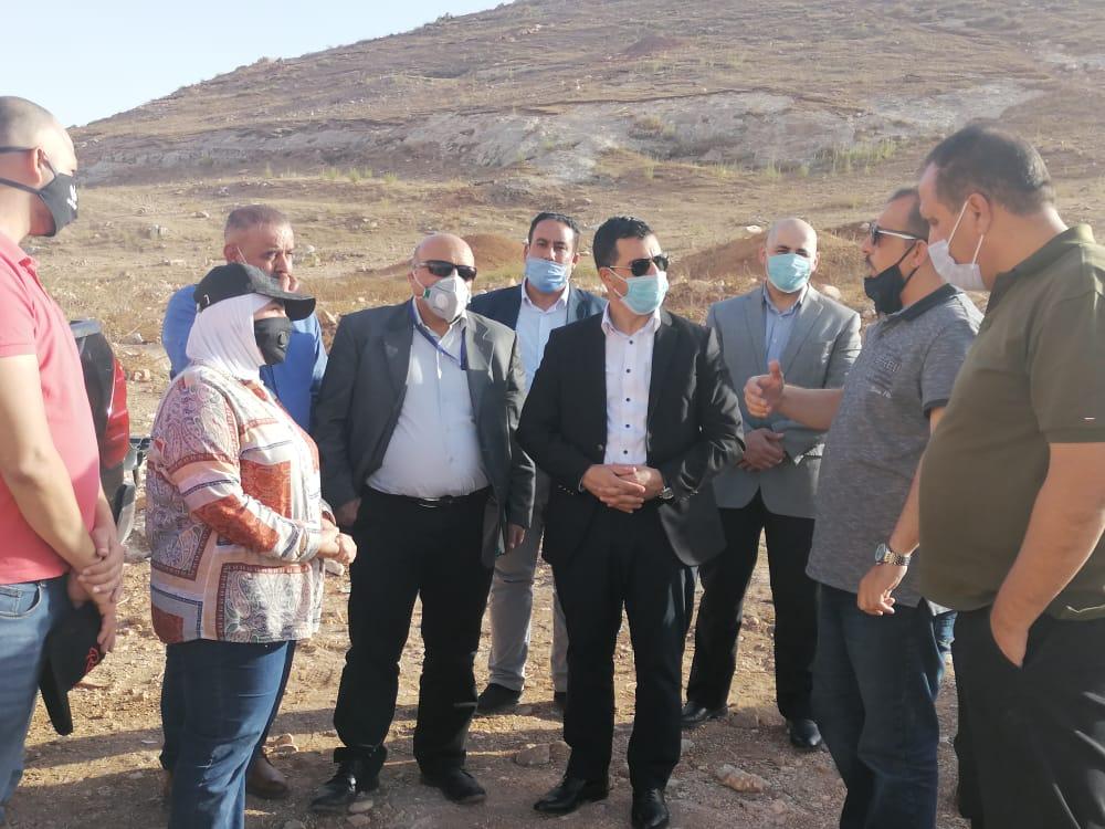وزير المياه والري يمضي سحابة الجمعة في جولة تفقدية لمياه اليرموك ومشروع وادي العرب