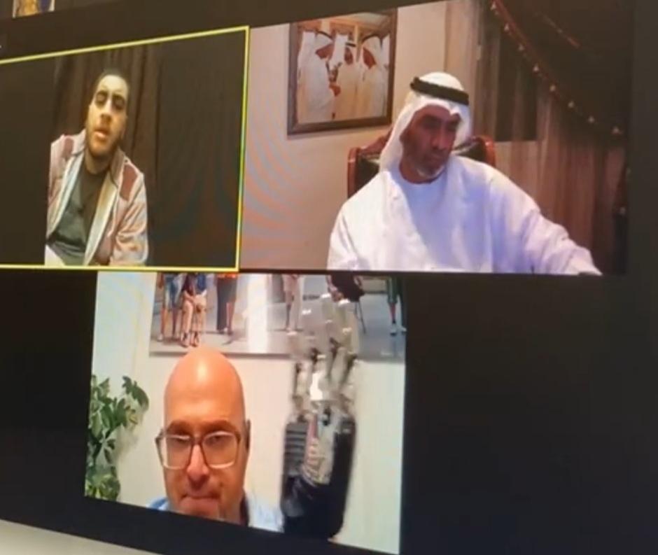 صانع الأمل الإماراتي أحمد الفلاسي يعلن عن بدء رحلة علاج الفتى صالح
