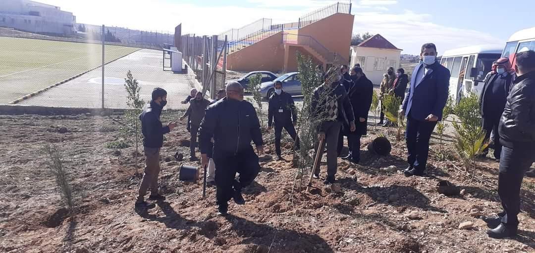 مدينة الأمير هاشم بن عبد الله الثاني للشباب في محافظة مأدبا تحتفل بيوم الشجرة