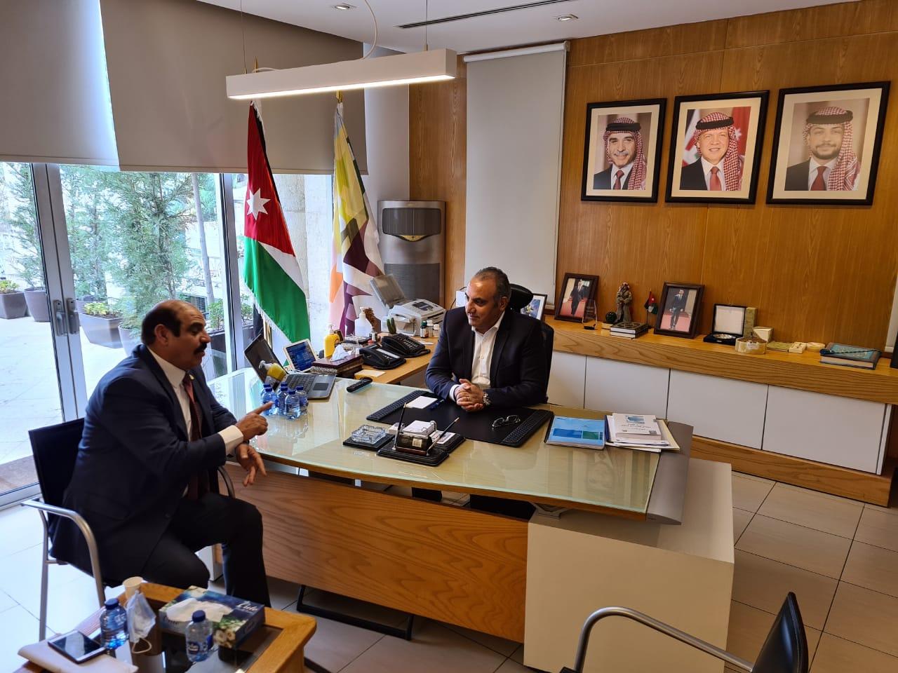 أمين عمان يلتقي رئيس اتحاد الكُتّاب والأُدباء الأردنيين