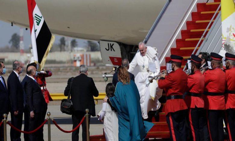 بابا الفاتيكان يصل إلى العراق في أول زيارة له