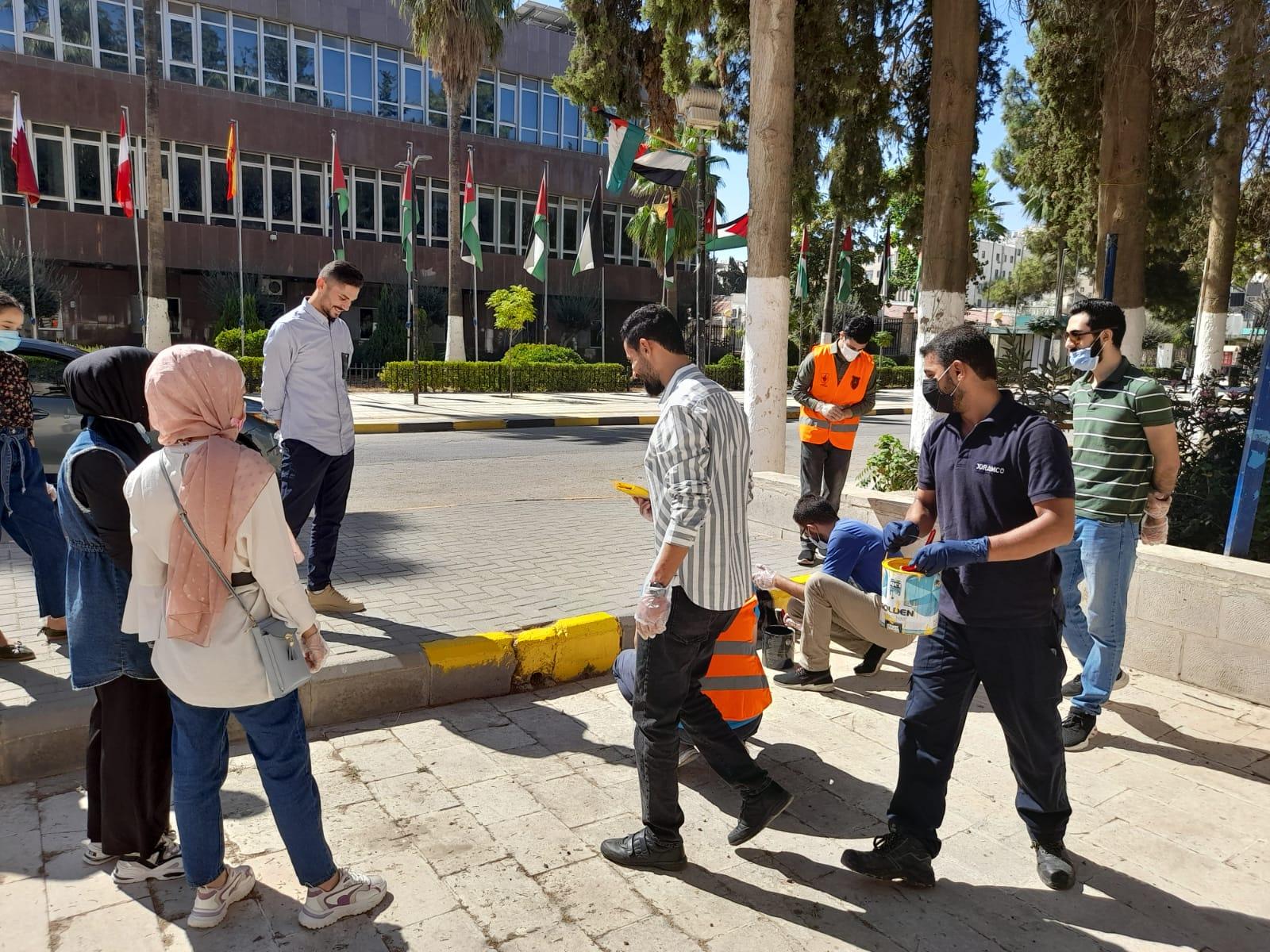 مركز تنمية وخدمة المجتمع في الجامعة الأردنية ينظم حملات تحضيرية لاستقبال الطلبة الجدد وعودة التعليم الوجاهي